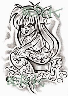 Boceto sirena