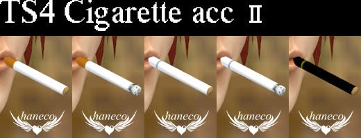 My Sims 4 Blog Accessory Cigarette And Poses By Haneco