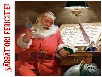 Funny photo Traian Băsescu Absolut Coca-Cola Santa Claus Felicitari sarbatori iarna