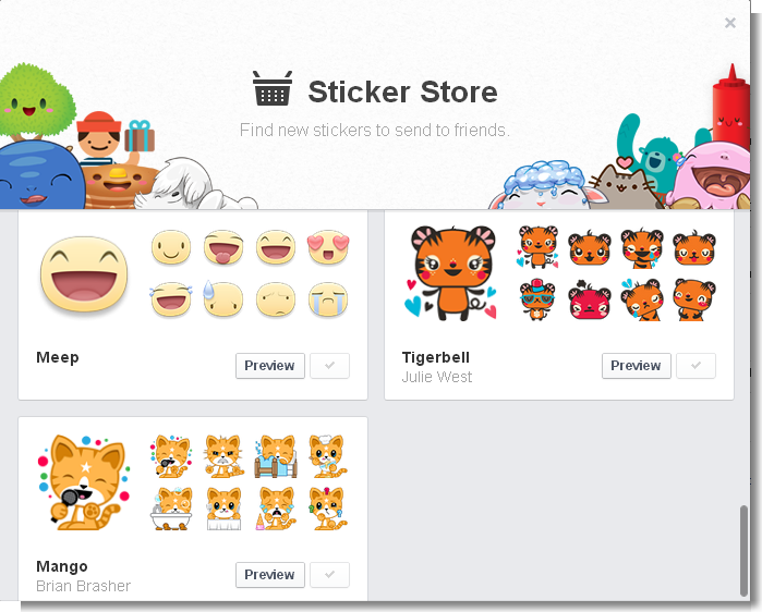 facebook launches stickers in chat. Black Bedroom Furniture Sets. Home Design Ideas