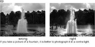 Совет 69. Фонтаны - одни из немногих объектов, которых лучше снимать в контровом свете, что бы лучше передать красоту брызг воды