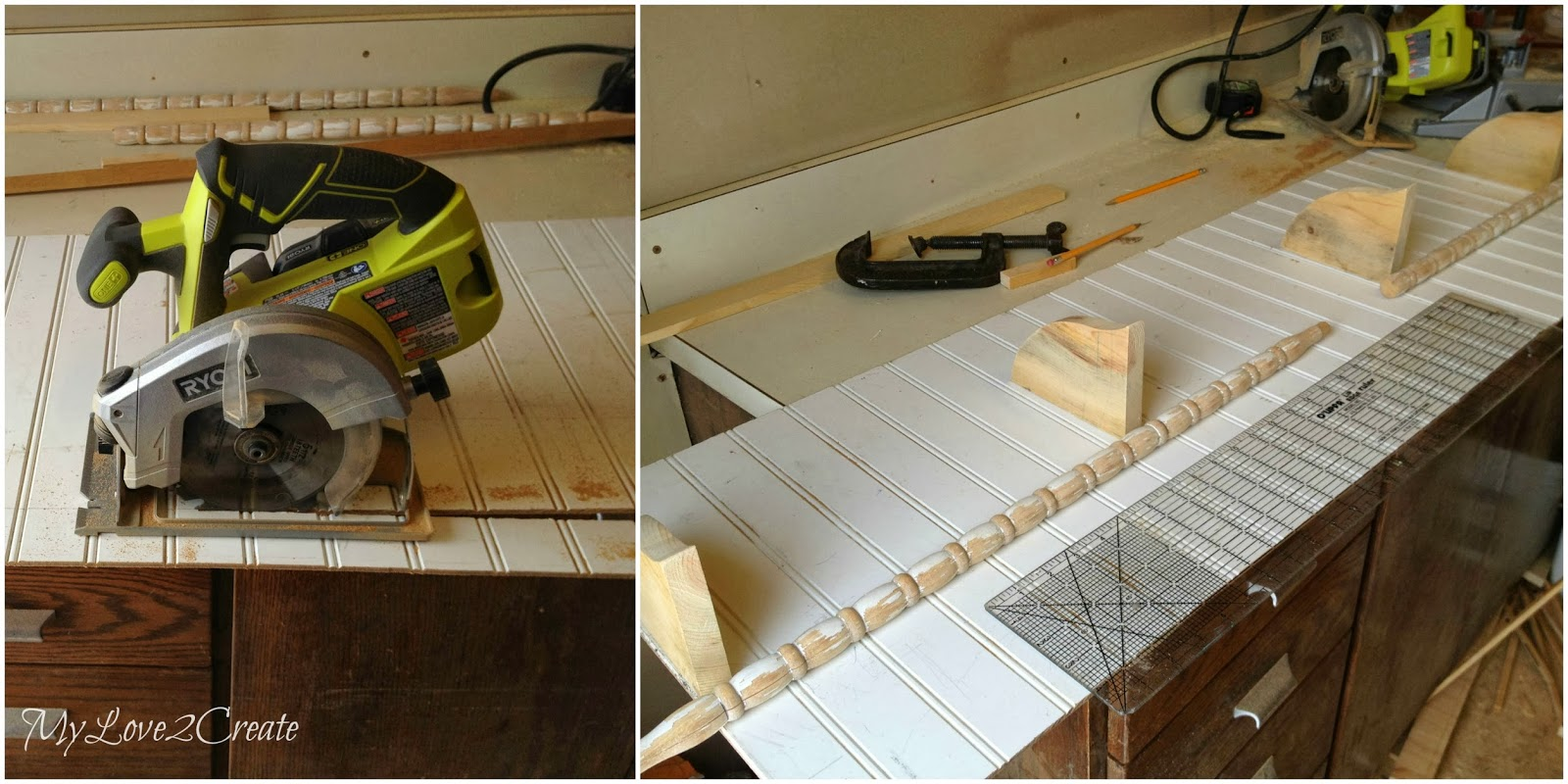 cutting beadboard, measuring spindles