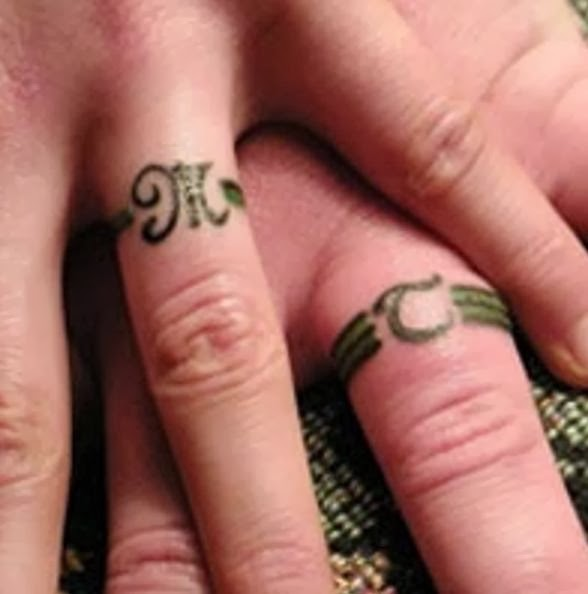 Wedding band tattoos for Covering tattoos for wedding