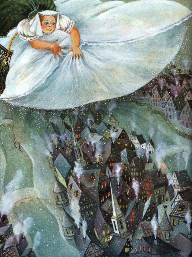 """Frau Holle"" - ""Матушка Метелица"", книга братьев Гримм - текст сказки на немецком языке"