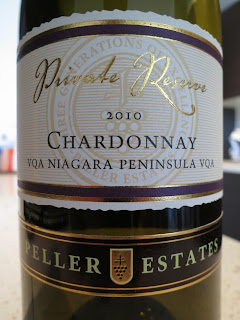 Label photo of 2010 Peller Estates Private Reserve Chardonnay, VQA Niagara Peninsula from Ontario, Canada