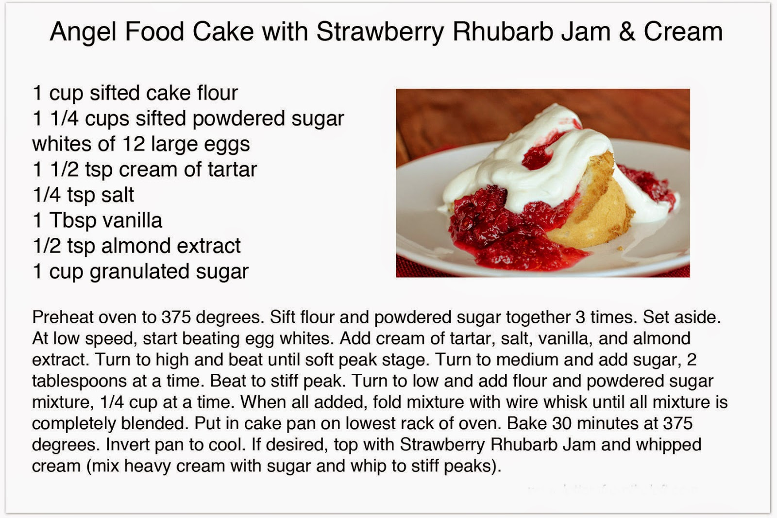 What Is Usually Served With Angel Food Cake