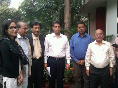 Manish Tewari with Bishnupriya Manipuri delegation