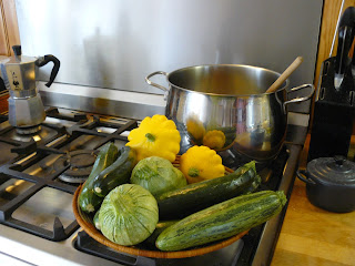 French village diaries courgette zucchini soup recipe