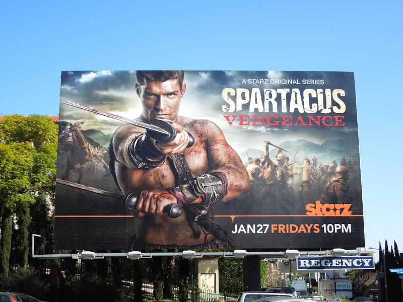Liam McIntyre Spartacus Vengeance billboard