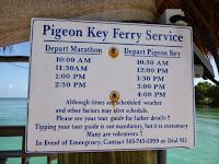 pigeon island florida keys tourist detination