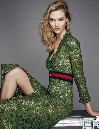 Karlie Kloss model photo shoot for ELLE UK fashion magazine