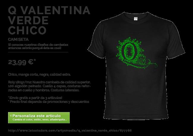 Camiseta Q Valentina Verde Chico