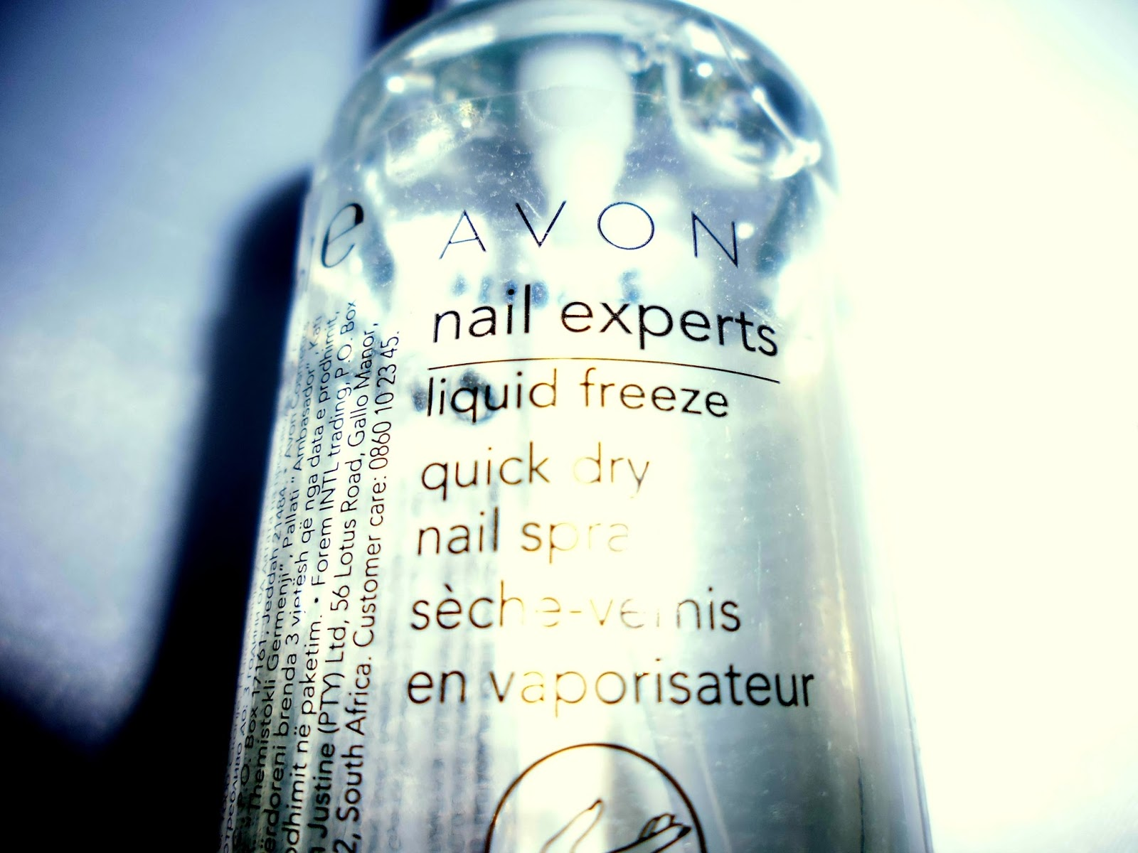wondercolourbehind a frosted window : Avon Quick Freeze Drying Nail ...