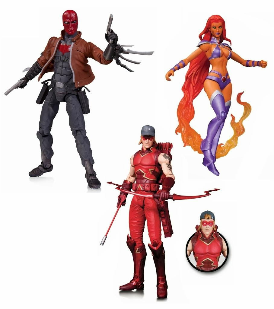 DC Comics Red Hood and the Outlaws New 52 Action Figures - Jason Todd, Arsenal & Starfire