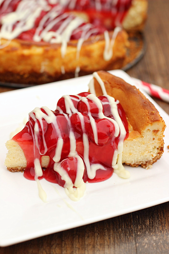 White Chocolate Cherry Cheesecake - Whats Cooking Love?