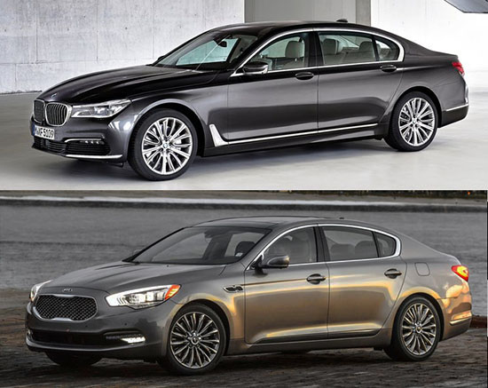 burlappcar all new bmw 7 series vs 3 year old kia k900. Black Bedroom Furniture Sets. Home Design Ideas