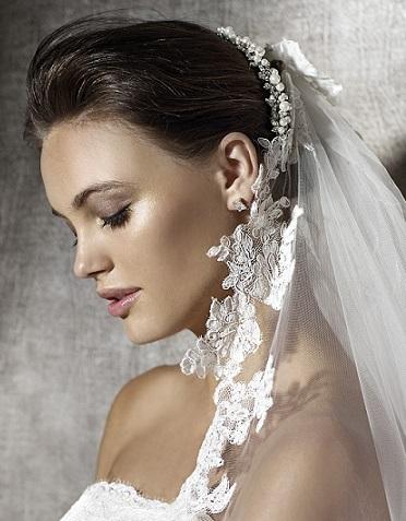 mujer estilo y belleza mo os de novia con velo o