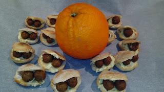 mini falafel e mini panini