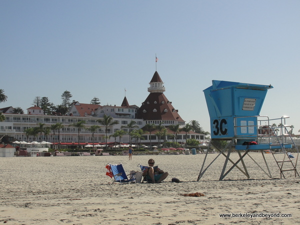 beach at Hotel del Coronado on Coronado Island in San Diego, California