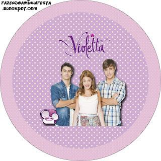 Violetta: etiquetas para imprimir gratis.
