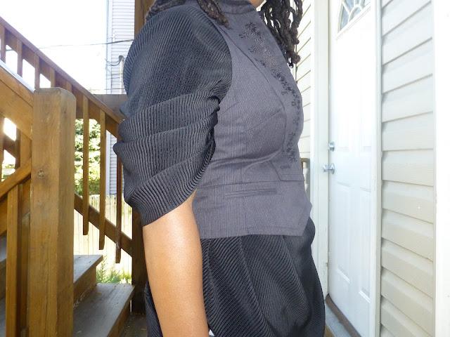 Skirt worn as a blouse