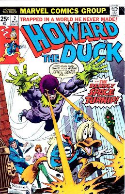 Howard the Duck v1 #2 marvel 1970s bronze age comic book cover art by Frank Brunner