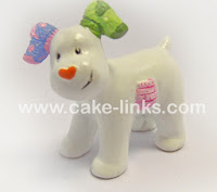 The Snowdog Cake Decoration