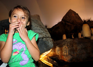 For some reason, the penguins and puffins really cracked up Tessa. She giggled the entire way through  the exhibit.