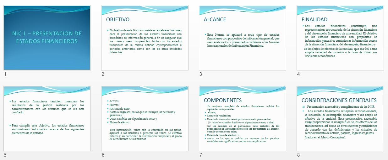 NIC 1 – Presentación de Estados Financieros| Power Point | Planeta ...