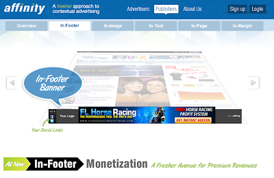 Affinity In-Footer Ads
