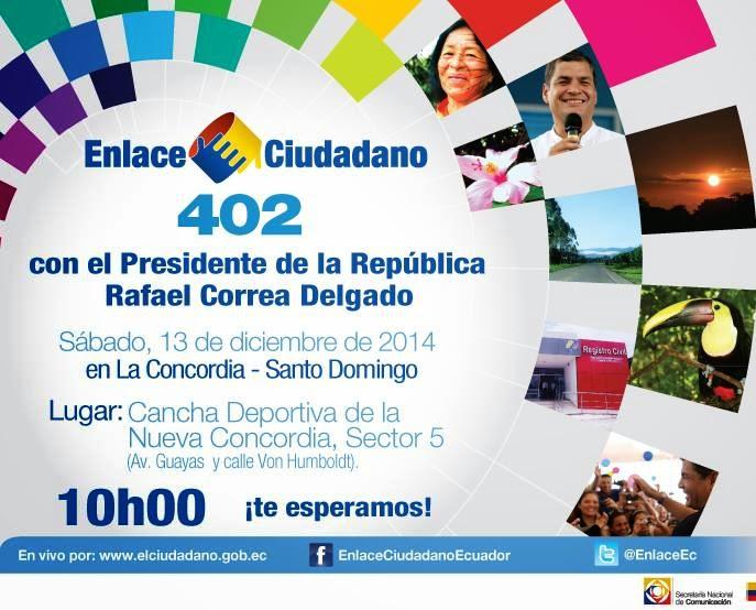 Sabatina de Correa 402 desde La Concordia