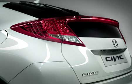new appearance of the 2012 Honda Civic