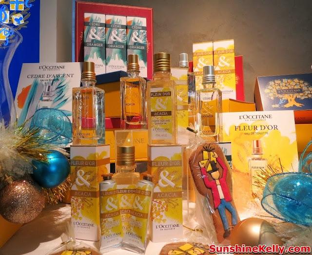 L'Occitane Xmas Collection, Un Noel a Grasse, L'Occitane, skincare, Fleur d'Or & Acacia, Cèdre & Oranger, bodycare