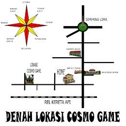 Denah Lokasi COSMO GAME
