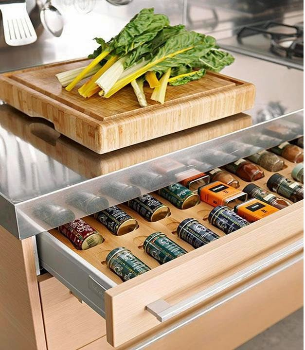 Home Decor How to organize and storage kitchen spice jars