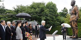 Patung Jendral Sudirman Di Pajang Di Kantor Mehan Jepang
