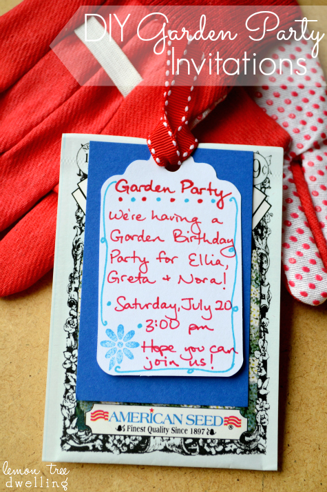 diy garden party invitations lemon tree dwelling