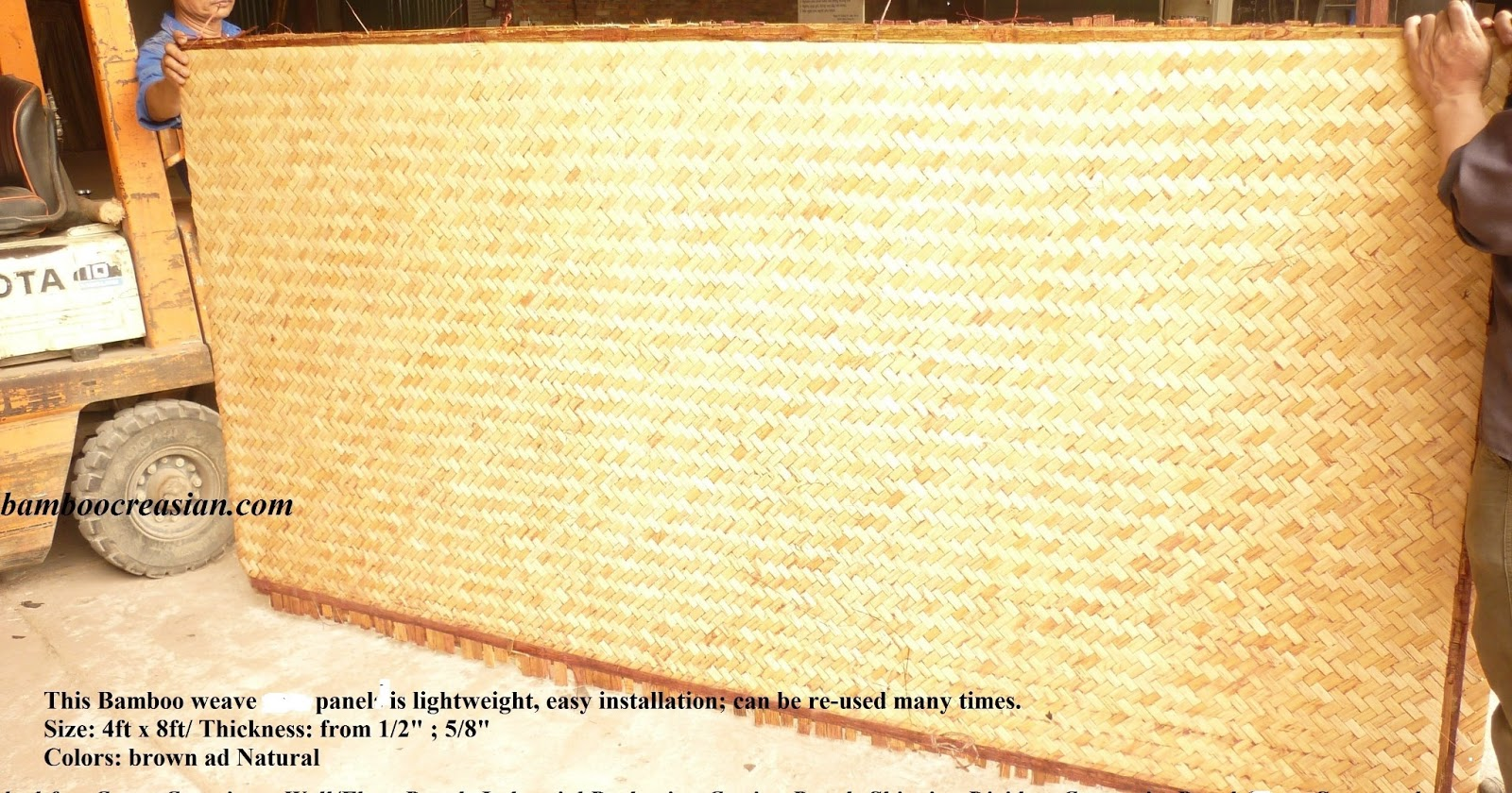 Quality Bamboo and Asian Thatch: Waterproof Bamboo Panels for ...