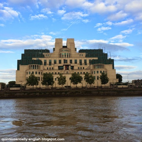 MI5 from the River Thames in London, England