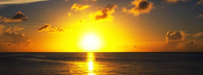 gambar kronologi facebook keren matahari tenggelam