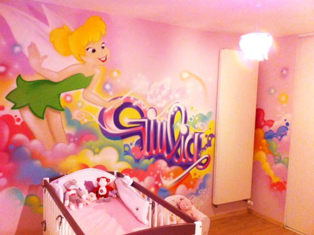 gimus d coration graffiti chambre d 39 enfant f e clochette. Black Bedroom Furniture Sets. Home Design Ideas