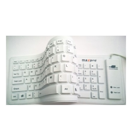 Maxpro A-103 Wired USB Flexible Keyboard