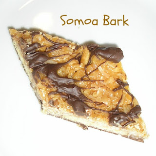 Somoa Bark Recipe, Pinterest