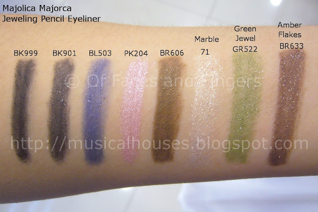Majolica Majorca Jeweling Pencil Eyeliners