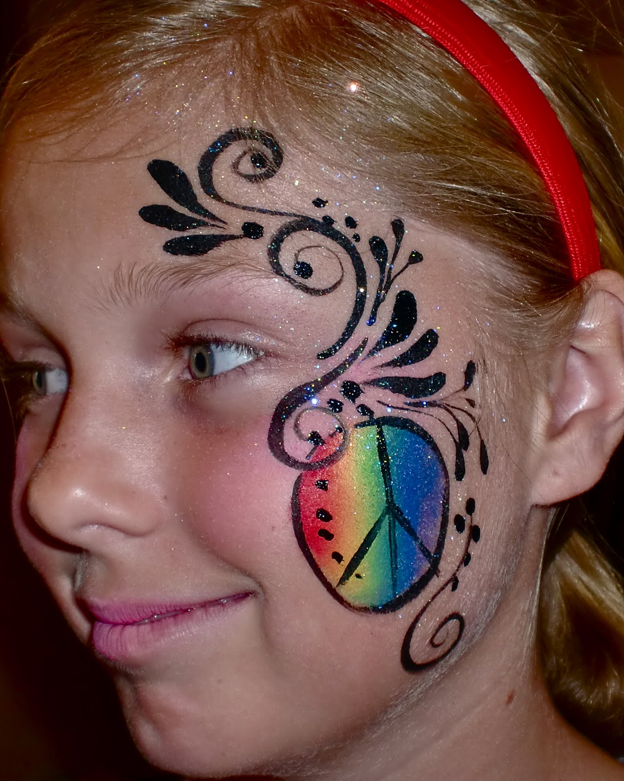 Face Painting Signs http://facepaintingillusions.blogspot.com/2011/06/face-painting-peace-sign.html