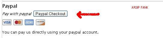 Tombol Pembayaran Dengan Paypal
