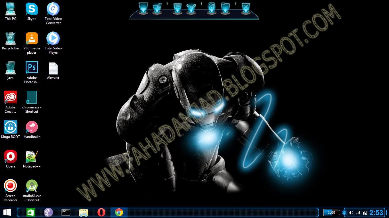 Jarvis Skin Pack For Windows 7/8/8.1 | Fahad Amjad