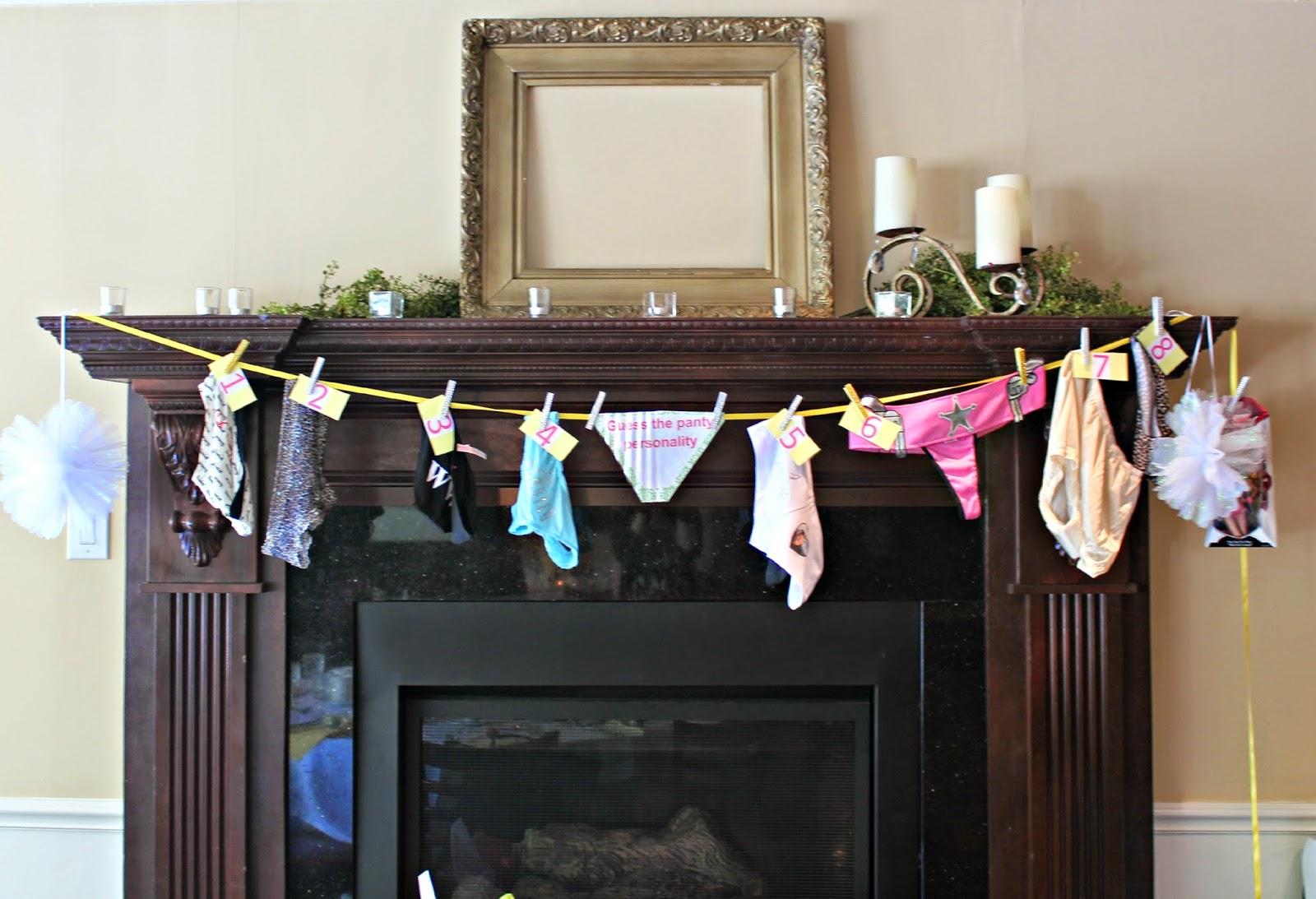 bridal shower panty line