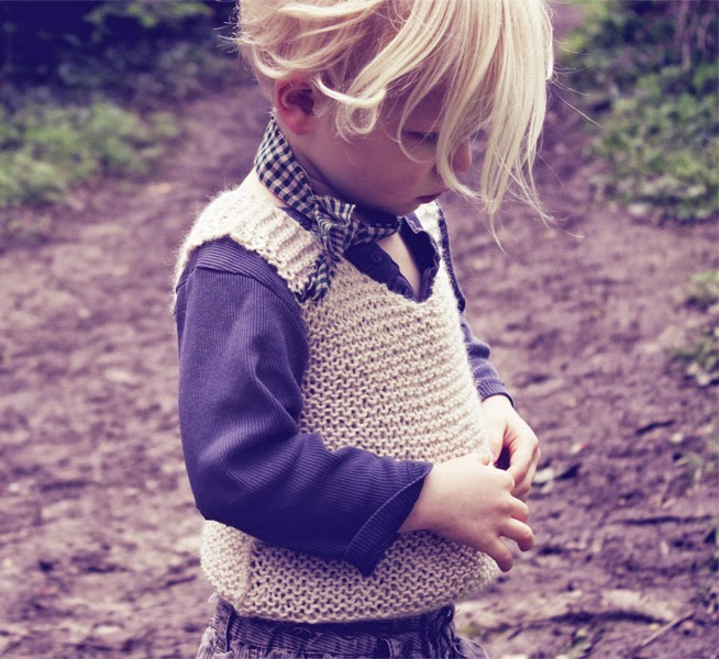 Kids knitted waistcoat by Hambro & Miller for autumn 2014
