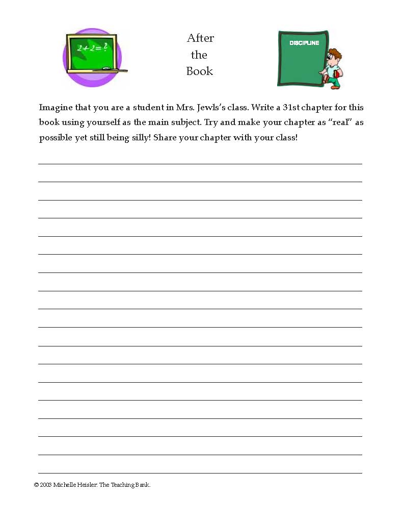 English teaching worksheets: Sideways Stories from Wayside School ...